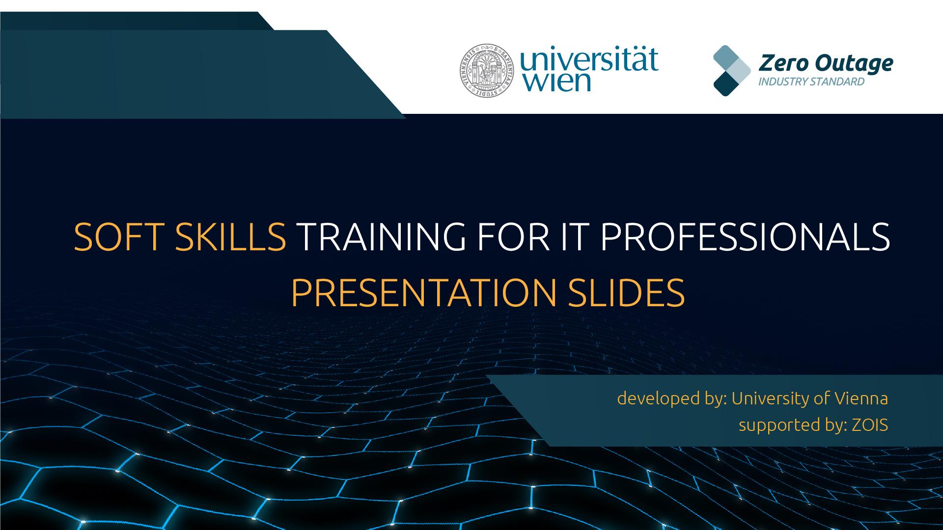Soft Skills for IT Training Slides