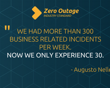 """""""We had more than 300 business related incidents per week. Now we only experience 30"""" - Augusto Nellessen"""